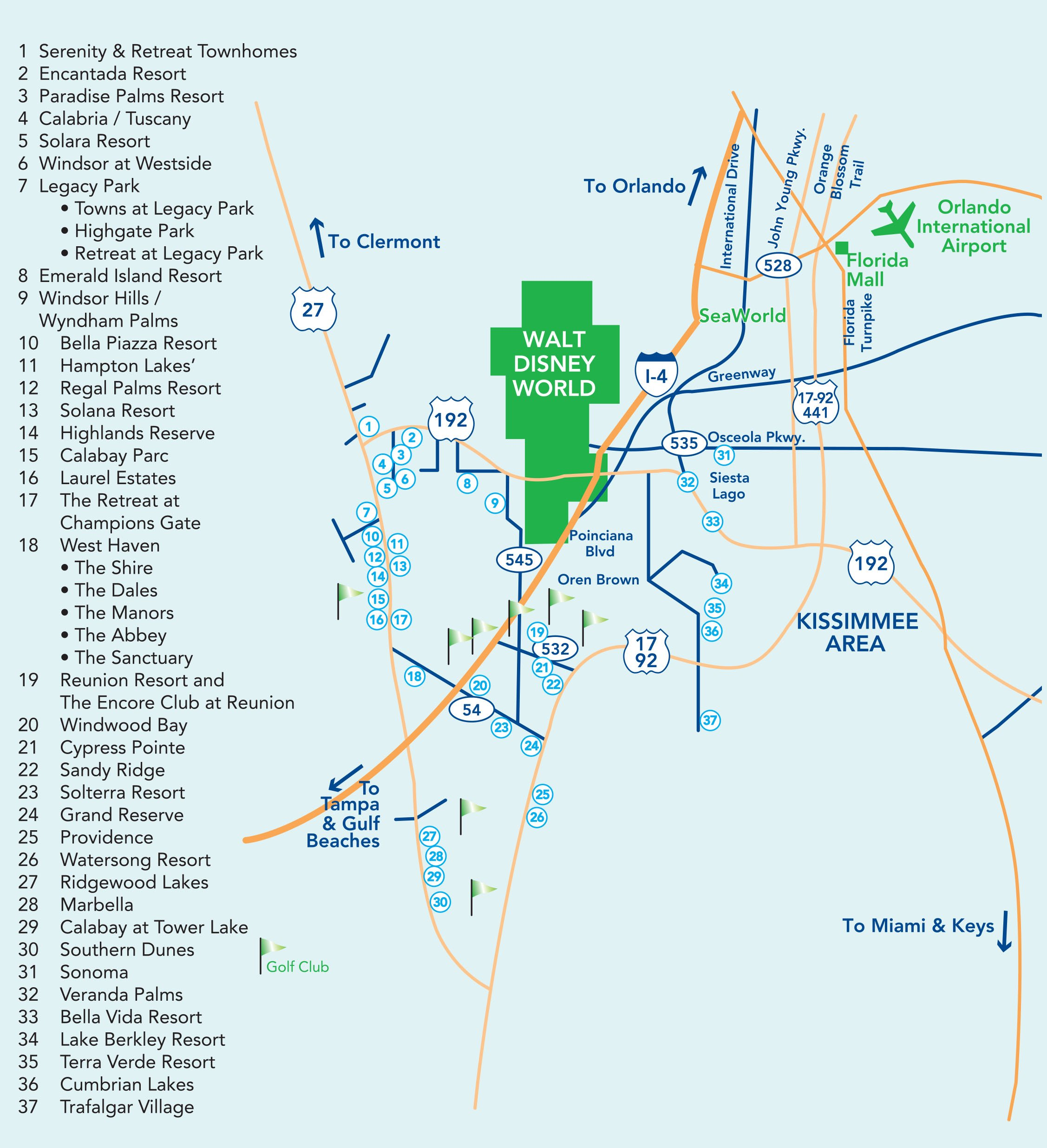 Map of Orlando Florida